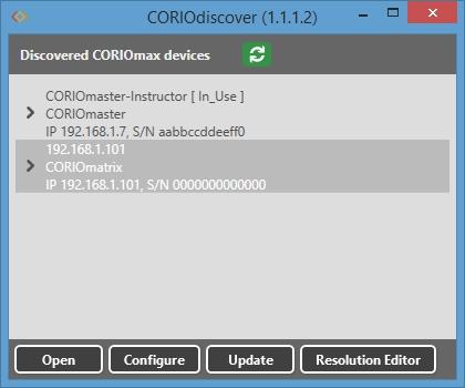 CORIOdiscover w editor